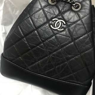 Chanel Gabrielle Backpack 流浪包 small 全黑色 全新