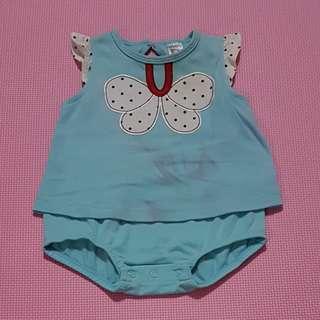 """Jumper biru kupu"""" baby 9 months"""