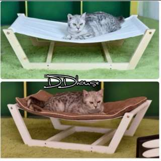 wooden Dog bed cat Hammock Kennel solid wood dog bed pet sofa bed Dog sofa Kennel washable cushion