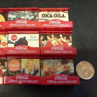 絕版 正版貨 可口可樂 迷你擺設 共九個