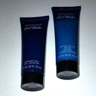 Davidoff Cool Water Shower Gel 75ml and After Shave Balm 75ml