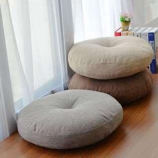 50x50日式藝文手工棉麻圓融坐墊靠墊瑜珈墊