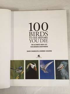 100 Birds To See Before You Die Book
