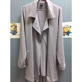 灰色厚紗外套(西裝領) 交換