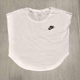 Nike 純白鬆身短款T-shirt