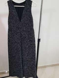 Zara Woman Black V-neck jumpsuit