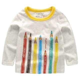 [全新現貨]95cm春裝童趣色鉛筆薄T