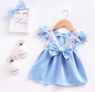 Princess dress lace bowknot