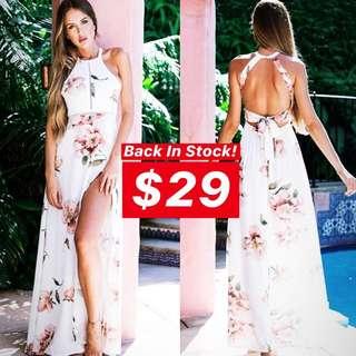 INSTOCKS Bohemian Floral Maxi Dress