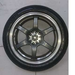 17 '' Sport Rim With Tyre 5x100 5x114.3 (SR978)