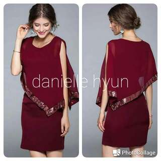 🐊Sequined elegant combined dress