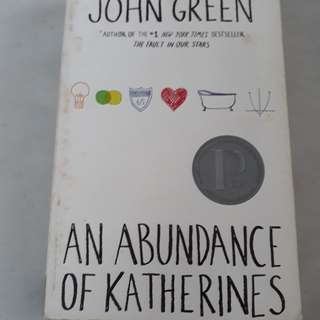 PAYDAY SALE! An Abundance of Katherines (paperback)