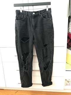TOPSHOP MOM Ripped JEANS