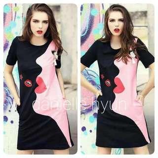🐊3D print pocket Tee shirt dress