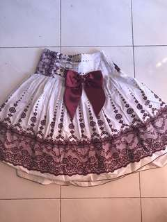 Skater skirt with ribbon