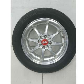 Original 15 '' Rays ITC Sebring Rims With Tyres 4x100 (SR979)