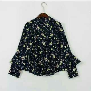 SALE!! Floral Coruduoy Long Sleeve Top Blouse