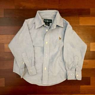 Used Polo Ralph Lauren soft denim shirt for 3yo, cond: 9/10