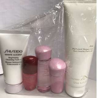 Shiseido White lucent Travel size with shower gel