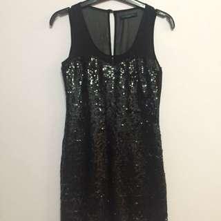 Contempo Blink Black Dress