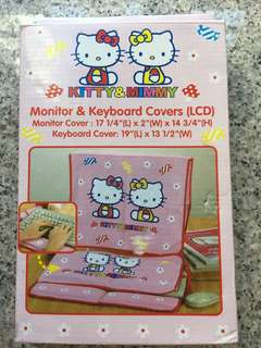 Hello kitty monitor & keyboard cover  電腦螢幕鍵盤套
