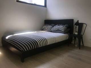 Queen Bed Frame & Mattress