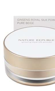 Nature Republic Ginseng Royal Silk Powder Pure Beige + Free Gift (Reduced)