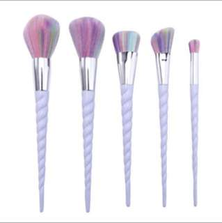 Unicorn Makeup Brushes 5 pieces