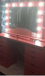 CUSTOM COLOUR VANITY MIRROR DESIGNED FOR YOUR COLOURS