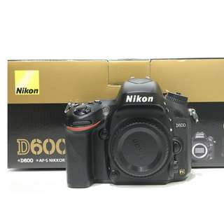 Nikon D600 DSLR Body Only (SC: 40K+)