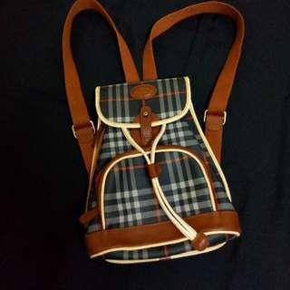 Authentic Burberry Nova Check Black Bagpack