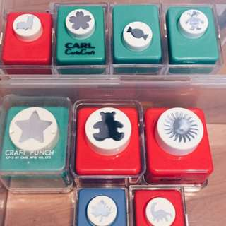 Craft Punches box of 9