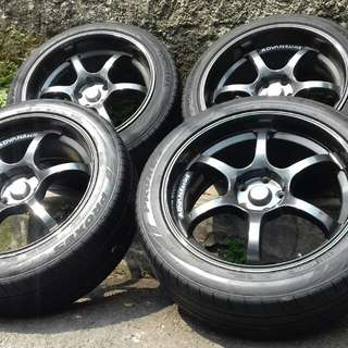 Jual Advan racing x hrv 5x114 ring 19 belang