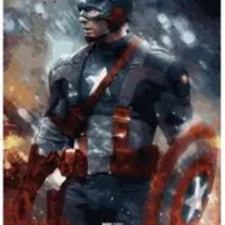 Captain America, Paint by Number