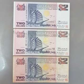Ship series $2 notes from 3 Printers