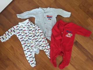 Mothercare Sleepsuits 0-1 months