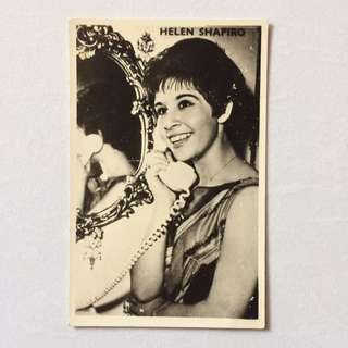 Vintage Old Photo - Black & White Photo showing British Singer - Actress Helen Kate Shapiro (14 by 9 cm)