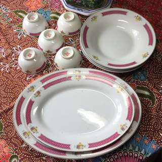 All for $30, Flower Basket plate and bowl