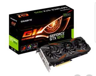 Gigabyte GTX1070 G1 Gaming Graphic Card
