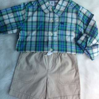 Kemeja Cartes + Short Pants