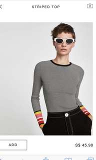 LOOKING FOR: Zara Knit Striped TOP