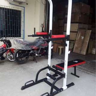 Multi Function Bench and Dip Bar