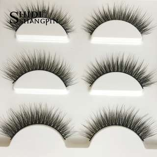 PREORDER! FREE POSAGE New 3 pairs natural false eyelashes fake lashes long makeup 3d mink lashes extension eyelash mink eyelashes for beauty
