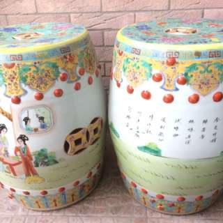 Rare pair of display ornament stools.