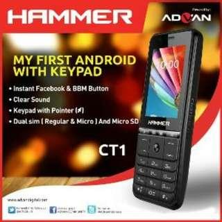 Advan Hammer CT1 Android Kit Kat 4.4.2 bisa WIFI dan hotspot