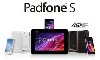 "Asus Padfone S Plus T00N RAM 3 GB / 64 GB ROM + Docking Station 10"" IPS Full HD Display 4000 mAh Battery"