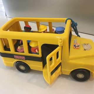 Toy school bus (& free dumptruck)