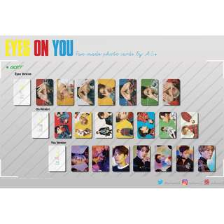 GOT7 Eyes on You and 7 for 7 Fan made Photo cards