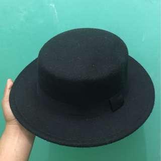Black Boater Hat