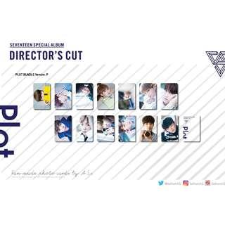 SEVENTEEN Director's Cut PLOT Fan made Photo Cards